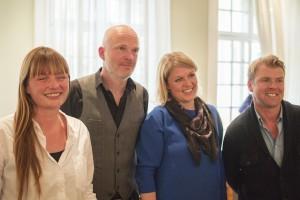 Gine Jonassen, Nordl/Libris Arne Svingen, forfatter Marit Grue, Ark Thomas Mala, Forlaget Press. Foto: Bjørn Ingvaldsen